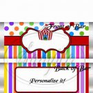 Carnival Tent #2  ~ Standard Size Candy Bar Wrapper