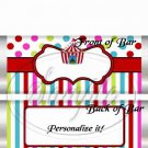 Carnival Tent #4  ~ Standard Size Candy Bar Wrapper