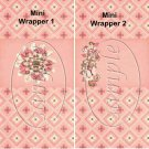 Mom's Brown & Peach Floral ~ MINI Candy Bar Wrappers