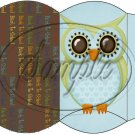 Owl Back To School Blue & Brown Back #2 ~ Pillow Box
