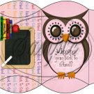 Owl Back To School Pink & Pink  Back #3 ~ Pillow Box