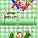 Green Gingham Rag Doll ~ Mint Matchbook Cover