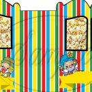 Striped Circus Wagon  ~ Carriage Popcorn Box