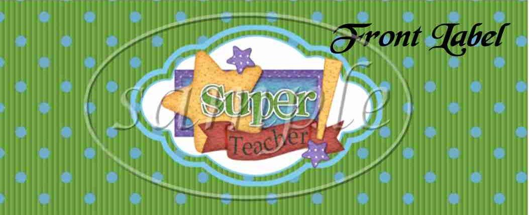 Super Teacher ~ Pint Glass Jar Set