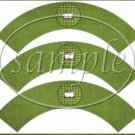 We need More Super Heros Like You Green Striped Border  ~  Cupcake Paper Wrappers ~ Set of 1 Dozen