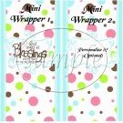 Blue God's Blessings ~ MINI Candy Bar Wrappers