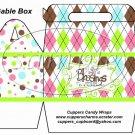 Green God's Blessings ~ Gable Gift Snack Box