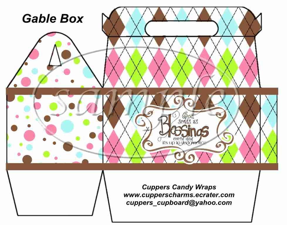 Brown God's Blessings ~ Gable Gift Snack Box