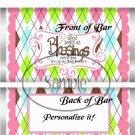 Pink God's Blessings ~  Standard Candy Bar Wrapper