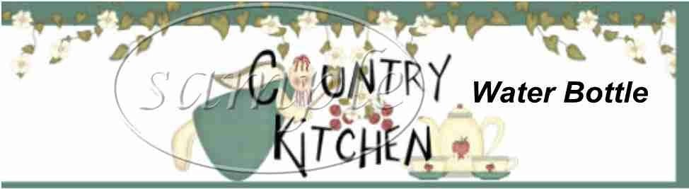 Country Kitchen ~ Water Bottle Wrapper ~ Set of 12