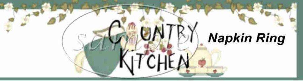 Country Kitchen ~ Paper Napkin Rings ~ 1 Dozen