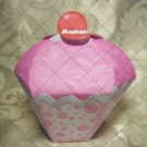 Cupcake Box ~ Standard Size ~ Pink Icing with Bubbles Wrapper