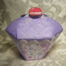 Cupcake Box ~ Standard Size ~ Purple Icing with Bubbles Wrapper