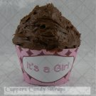 It's a Girl ~  Cupcake Paper Wrappers ~ Set of 1 Dozen