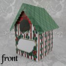 Christmas Holly ~  Mini Birdhouse