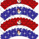 Snow White Inspired by Disney ~  Cupcake Paper Wrappers ~ Set of 1 Dozen