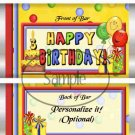 Happy 3rd Birthday Balloons ~ Standard Candy Bar Wrapper