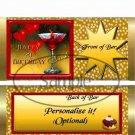 Happy 21st Birthday Martini Gold  ~ Standard Candy Bar Wrapper  SOE