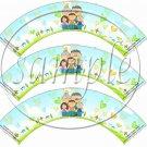Grandchildren Fill the Empty Space ~  Cupcake Paper Wrappers ~ Set of 1 Dozen