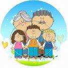 Grandchildren Fill the Empty Space  ~ Cupcake Picks & Toppers