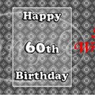 Happy 60th ~ MINI Candy Bar Wrappers