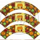 Bountiful Harvest  ~  Cupcake Paper Wrappers ~ Set of 1 Dozen