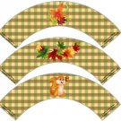 Fall Is In The Air ~  Cupcake Paper Wrappers ~ Set of 1 Dozen