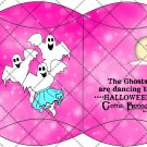 Boogie Ghost Starry Night Pink ~ Pillow Box