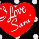 I Love Lucy Inspired Black & White Polka Dot ~ Water Bottle Wrapper ~ Set of 12