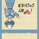 Cacausian  Air Force Male ~ MINI Matchbook Nail File COVER