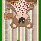 Apple of My Eye Teddy Bear Striped ~ MINI Matchbook Nail File COVER