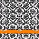 Happy Halloween Damask Black #3 ~ MINI Matchbook Nail File COVER