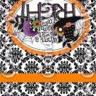 Happy Halloween Damask Black #4 ~ MINI Matchbook Nail File COVER
