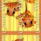 Happy Fall Stripes ~ MINI Matchbook Nail File COVER