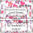 Do Me the Honor of Marrying Me~ Standard 1.55 oz Candy Bar Wrapper  SOE