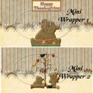 Thanksgiving Bears  ~ MINI Candy Bar Wrappers