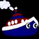 Blue Tug Boat ~  Cupcake Pick & Toppers ~ Set of 1 Dozen