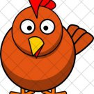 Chicken  ~ Cupcake Pick & Toppers ~ Set of 1 Dozen