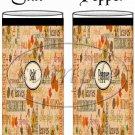 Fall Word Collage Black Border ~ Salt & Pepper Shaker Wrappers