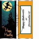 Happy Haunting #1 Halloween~ Standard 1.55 oz Candy Bar Wrapper  SOE