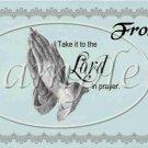 God's Jar *Take it to the Lord in Prayer ~ Quart Glass Jar