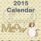 Cats ~ 12 Month CD Case Calendar 2017