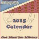 Military AA ~ 12 Month CD Case Calendar 2017