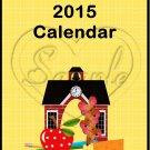 Back to School ~ 12 Month CD Case Calendar 2017