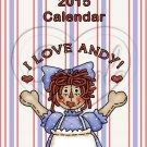 Raggedy Ann ~ 12 Month CD Case Calendar 2017