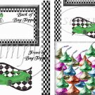 Faux NASCAR Racecar Green ~  Treat Bag Topper