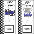 Faux NASCAR Blue ~ MINI Candy Bar Wrappers