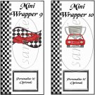 Faux NASCAR Red ~ MINI Candy Bar Wrappers