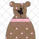 Ballerina Silhouette Ballet Party Favor Dress  ~ Party Favor Totes, Bags & Boxes