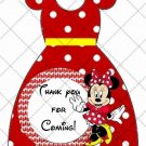 Red Polka Dot Faux Minnie Mouse Party Favor Dress ~ Party Favor Totes, Bags & Boxes